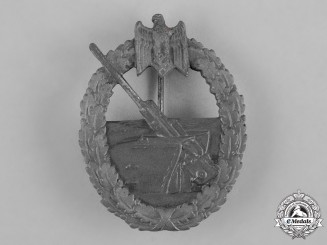 Germany, Kriegsmarine. A Marine Artillery War Badge, by Steinhauer & Lück