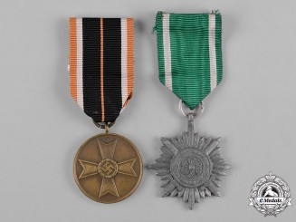 Germany, Third Reich. A Pair of Second War Period Decorations