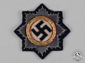 Germany, Third Reich. A German Cross in Gold for Panzer Units, Cloth Version by C.E. Juncker