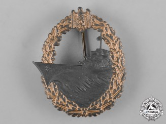 Germany, Kriegsmarine. A Destroyer War Badge, by Wilhelm Hobacher