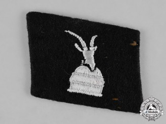 Germany, SS. A Single 21st Waffen-Gebirgs-Division der SS Skanderberg (Albanische Nr. 2) Collar Tab