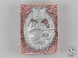 Germany, Heer. A Panzer Assault Badge, Silver Grade in Carton