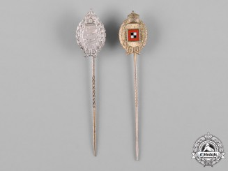 Germany, Imperial. A Pair of Miniature Flying Badge Stick Pins