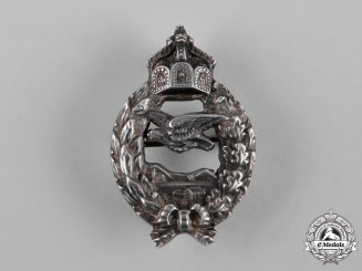 Germany, Imperial. A Miniature Prussian Pilot's Commemorative Badge in Silver