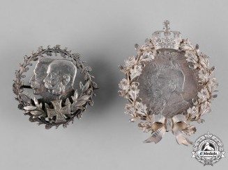 Germany, Imperial. A Pair Kaiser Wilhelm II Badges