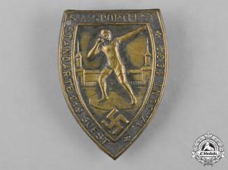 Germany, SA. A 1934 SA Sports Festival Badge