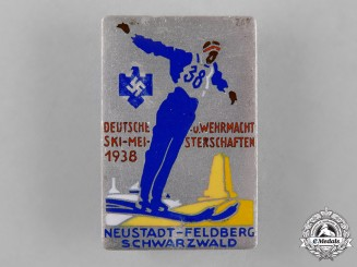 Germany, Third Reich. A 1938 Ski Competition Badge by B.H. Mayer