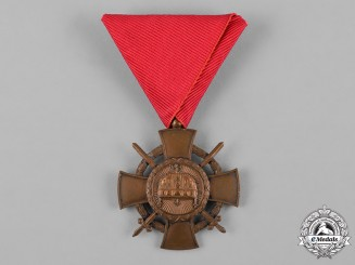 Hungary, Kingdom. An Order of the Holy Crown, Bronze Cross with War Decoration and Swords