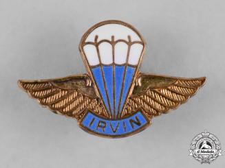 """United States. An Irvin Air Chute Company """"Silk Chute Club"""" Lapel Badge"""