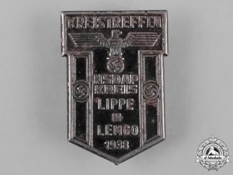 Germany, NSDAP. A 1938 NSDAP Lippe Meeting Badge