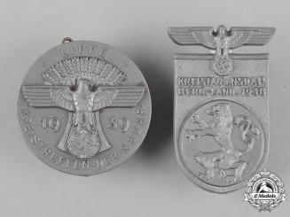 Germany, NSDAP. A Pair of NSDAP Meeting Badges by Richard Sieper & Söhne