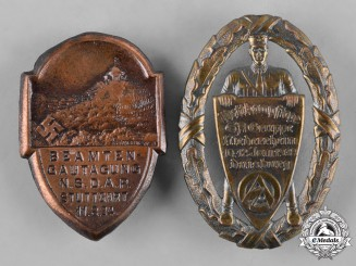 Germany, Third Reich. A Pair of Third Reich Period Day Badges
