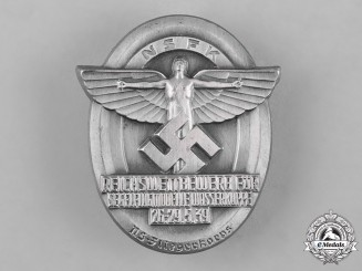 Germany, NSFK. A 1939 National Socialist Flying Corps (NSFK) Glider Badge by Gustav Brehmer
