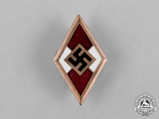 Germany, HJ. An HJ Golden Honour Badge by Wilhelm Deumer, Lüdenscheid
