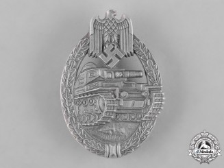 Germany, Wehrmacht. A Panzer Assault Badge, Silver Grade, by Edelmetallwerke List & Hertl