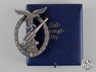 Germany, Luftwaffe. A Cased Luftwaffe Flak Badge