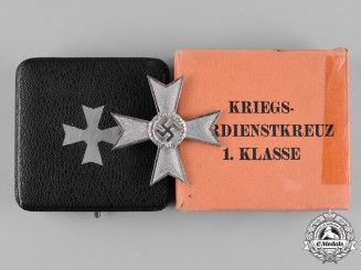 Germany, Wehrmacht. A Cased War Merit Cross, I Class, by Deschler & Sohn