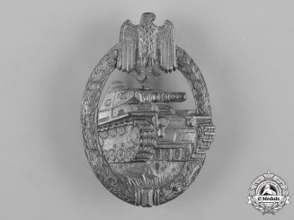 Germany, Heer. A Panzer Assault Badge, Silver Grade, by Karl Wurster