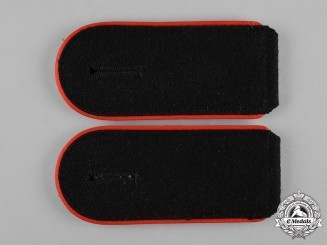 Germany, Waffen-SS. A Pair of  Mann Artillery Shoulder Straps