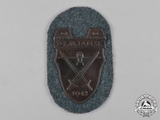 Germany, Heer. An Army Issue Demjansk Shield, 1957 Issue