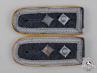 Germany, Luftwaffe. A Pair of Aviator Troops Oberfeldwebel Shoulder Boards