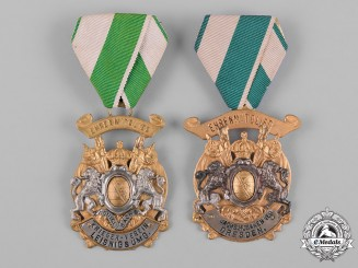 Germany, Imperial. A Pair of Imperial German Military Veterans Association Membership Badges for Honorary Members