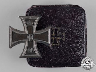 Germany, Imperial. A Cased 1914 Iron Cross I Class by Walter Schott