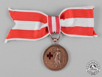 Netherlands, Kingdom. A Medal of Merit of the Red Cross, II Class Bronze Grade, c. 1945