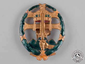 Hungary, Kingdom. An Army Officer's Badge for Combat Service