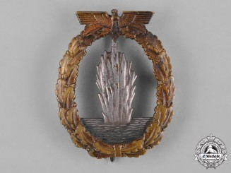 Germany, Kriegsmarine. A Minesweeper War Badge by Schwerin