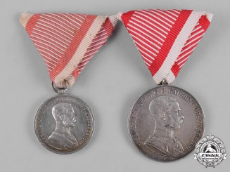 Austria, Imperial. A Pair of Bravery Medals