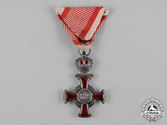 Austria, Imperial. A Cross of Merit, Silver Grade, by Wilhelm Kunz