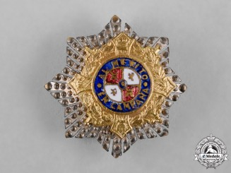 Spain, Franco Period. A Miniature War Cross Breast Star, c.1940