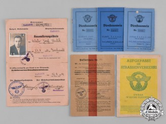 Germany, Ordnungspolizei. A Collection of German Police Identification Documents