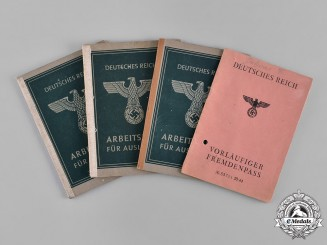 Germany. A Lot of Five Labour Books for Foreign Workers in the Reich