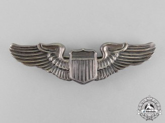 United States. An Army Air Force Pilot Badge, by N.S.Meyer, c.1941