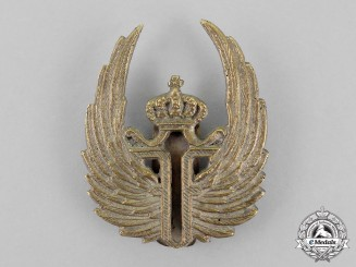 Romania, Kingdom. An Air Force Observer Cap Badge, c.1915