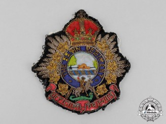 Canada. An Elgin Regiment Blazer Patch, c.1945