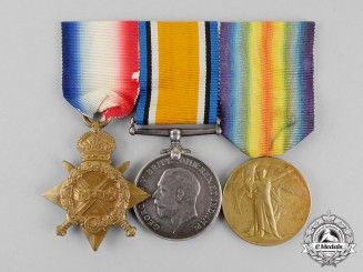 Canada. A Medal Trio to Corporal James Livings, No. 1 Canadian Field Ambulance