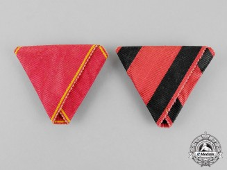 Russia, Imperial. Two Austrian Style Ribbons, c.1900