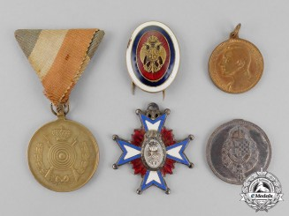 Serbia. A Lot of Five Awards & Badges