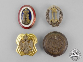 Yugoslavia, Kingdom.  Four Badges & Insignia