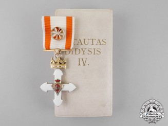 Lithuania. An Order of Vytautas the Great, 4th Class, by Huguenin Frères & Co.