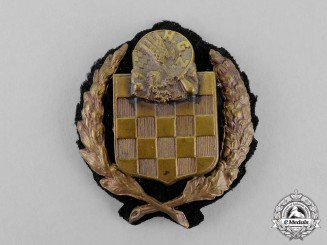 Croatia. A Second War Croatian Guard Unit (H.G.Z.) Badge