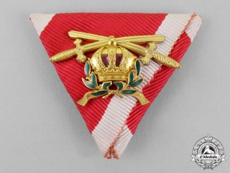 Austria, Empire. An Order of Leopold, Miniature Commander's Cross with KD and Swords