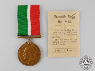 United Kingdom. A Mercantile Marine War Medal, to William Vaughan