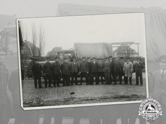 Germany, Reichsbahn. An Early Photo of a Group of Reichsbahn and Reichspost Workers