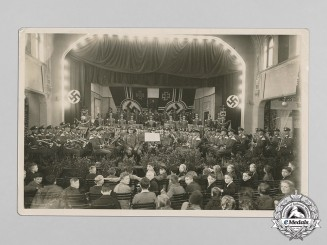 Germany, Heer. A Large 1938 Photo of Heer Musicians Performing Concert