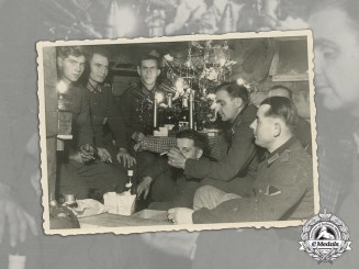 Germany. A Christmas Photo of German Soldiers in Northern Russia, c.1941