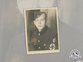 Germany, RAD. A Wartime Studio Portrait of a Sudetenland RAD Member